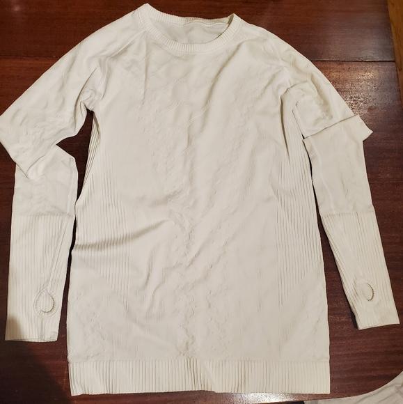Lululemon white top size 10